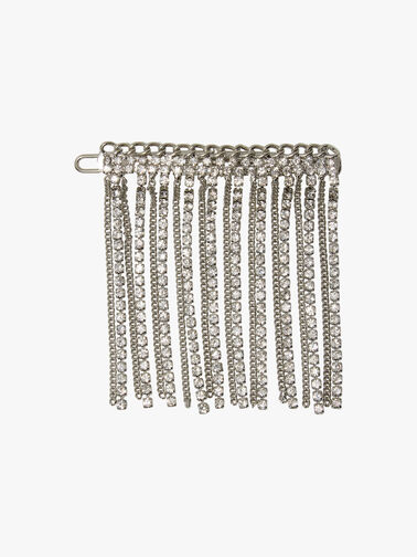Chain and Crystal Clip