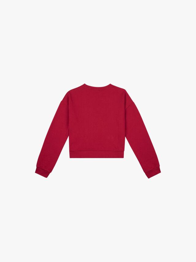 Rhinestone Logo Front Sweater