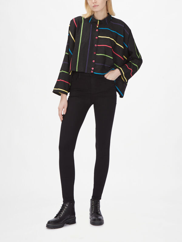 Stripe Box Jacket