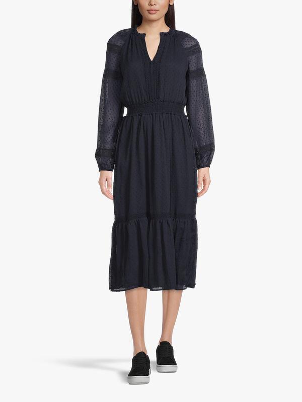 Jaira Swiss Dot Maxi Dress
