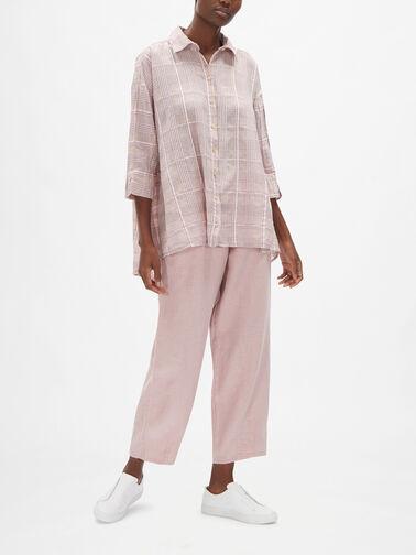 Drop-Hem-Cotton-Silk-Checked-Linen-Relaxed-Fit-Shirt-51686-S196