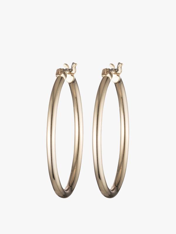 Medium Gold Tone Hoop Earrings