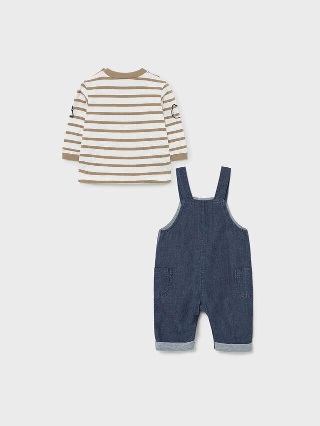 Denim Dungaree and T-shirt Set