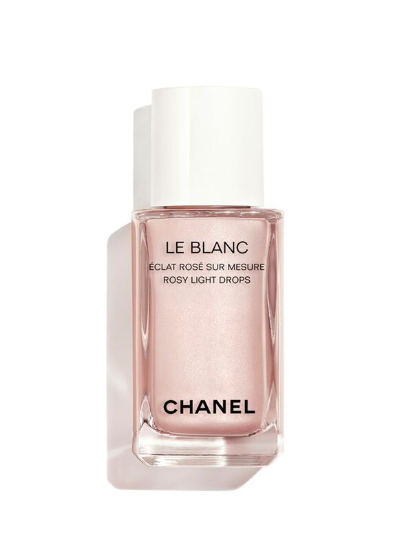 LE BLANC ROSY LIGHT DROPS Sheer Highlighting Fluid Custom-Made Radiance Rosy Glow Finish