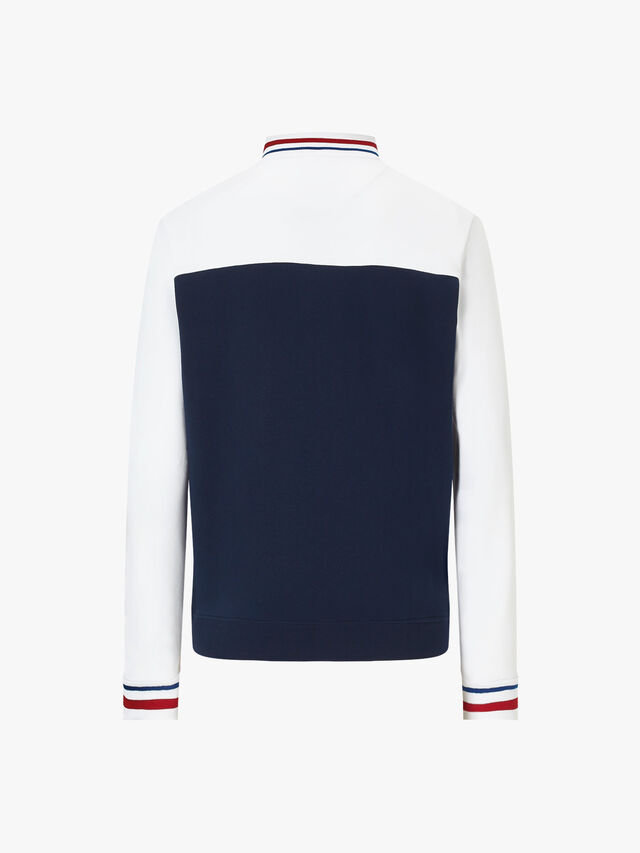 Tipped Funnel Neck Sweatshirt