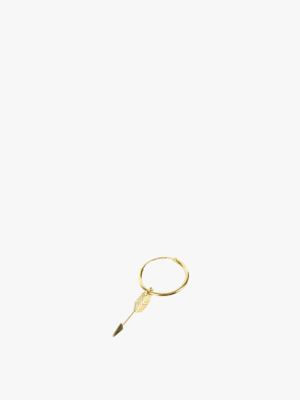 Gold Plated Silver Arrow Earring