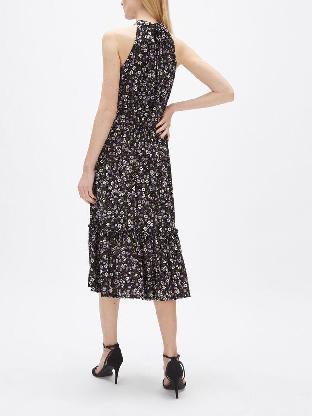 Garden Patch Tier Midi Dress