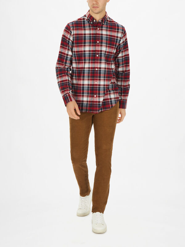 Brushed Oxford Plaid Shirt