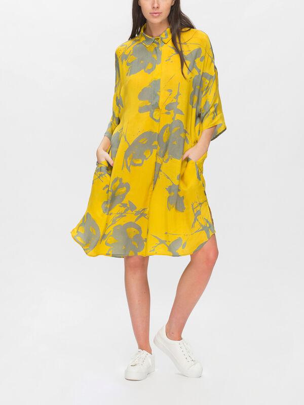 Gynni Handrawn Floral Print Shirt Dress