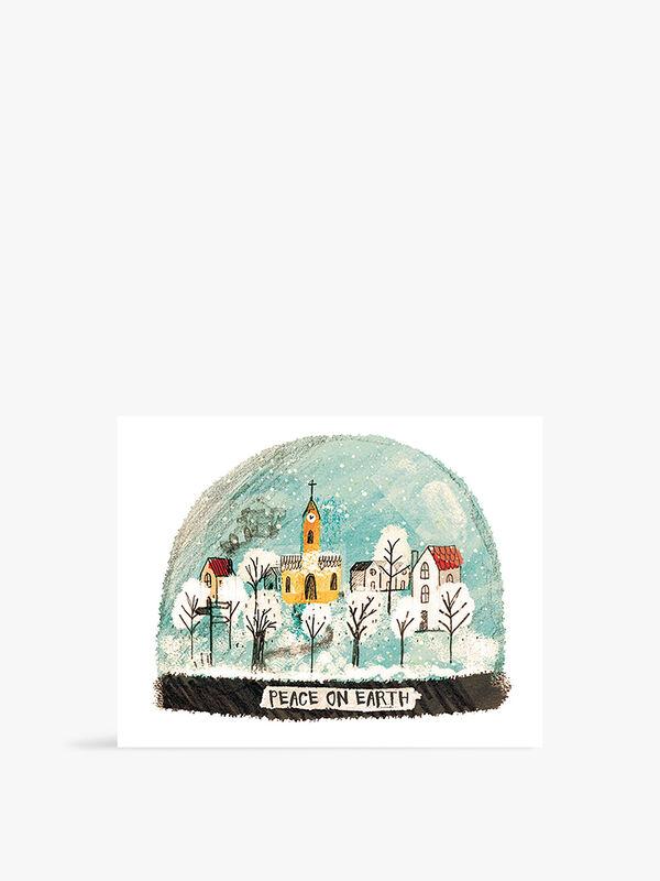 Village Snowglobe Cards Pack of 6