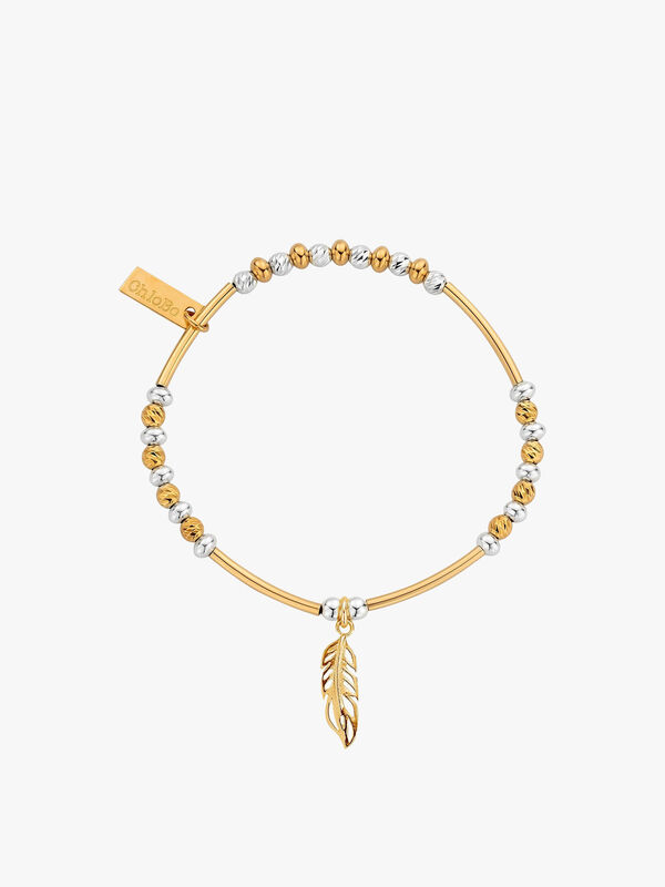 Sparkle Filigree Feather Bracelet