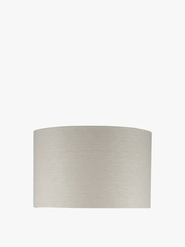 Grey Linen Drum Shade