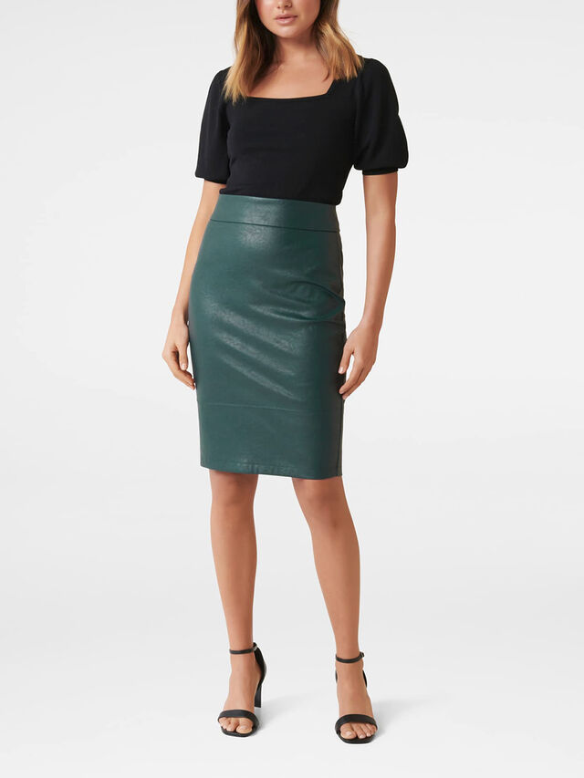 Alex PU Pencil Skirt