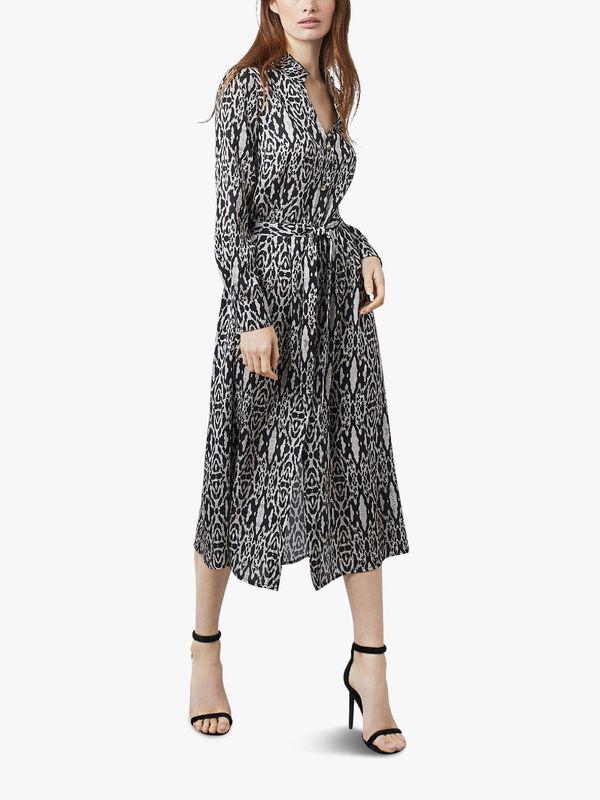 Wild Long Sleeve Midi Dress