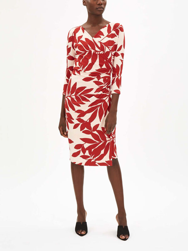 Bebbio Printed Wrap Dress