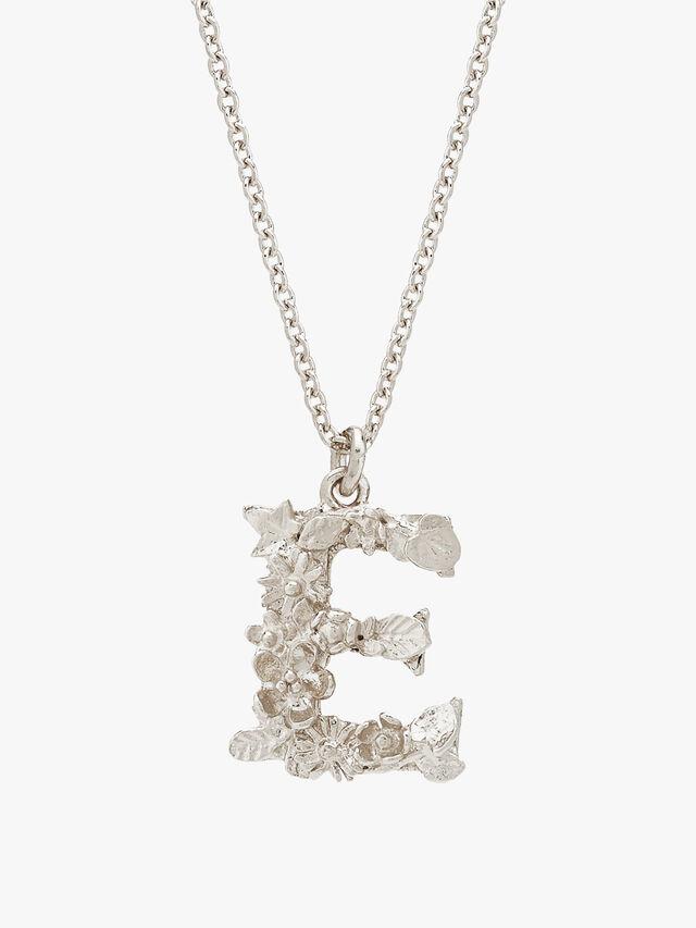 Floral Letter E Necklace