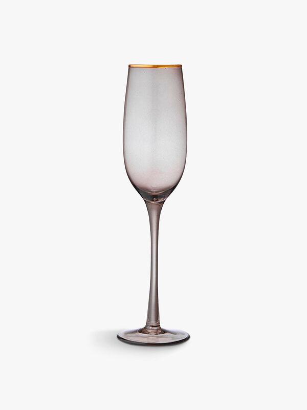 Chloe Navy Champagne Flute