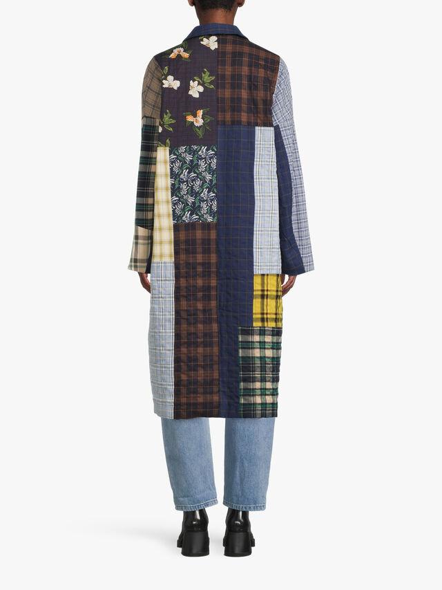 Ruthy Patchwork Long Coat