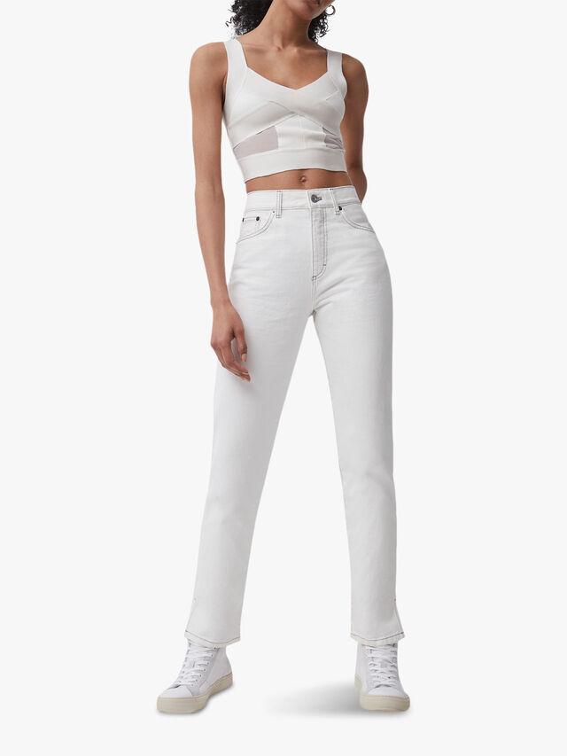 Palmira Sustainable Denim Side Split Jean