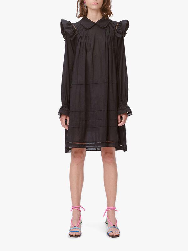 Trancas Ruffled Shirt Dress