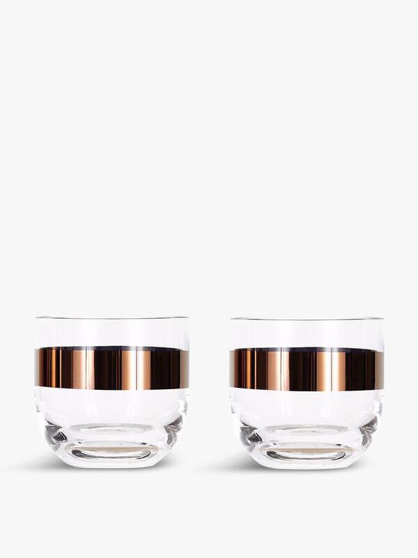 Tank Whiskey Copper Glass Set of 2