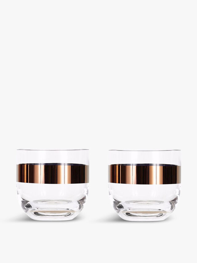 Tank Whiskey Copper Glass Set of 2