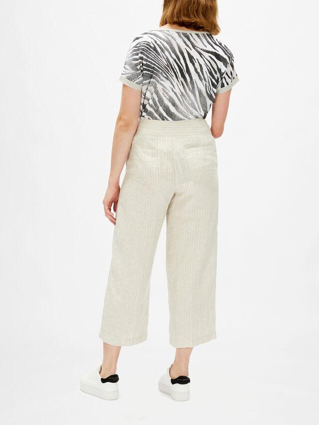 Linen Pinstripe Anna Crop Trouser