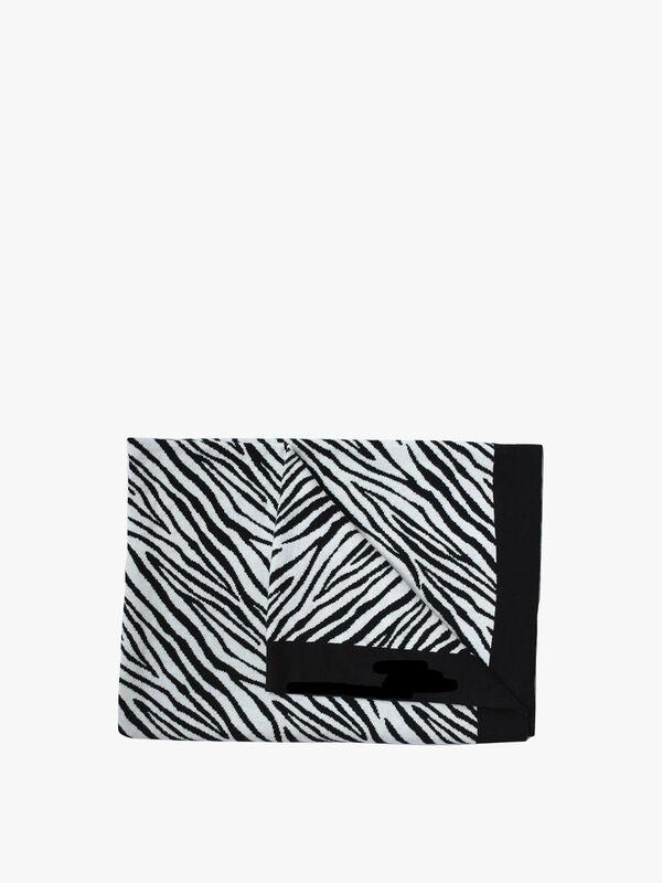Zebra Knitted Blanket