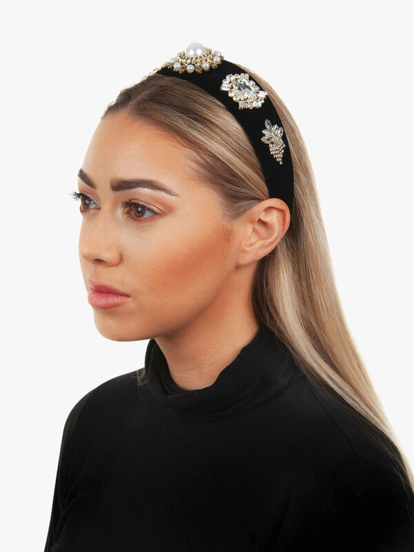 Velvet Baroque Embellished Headband