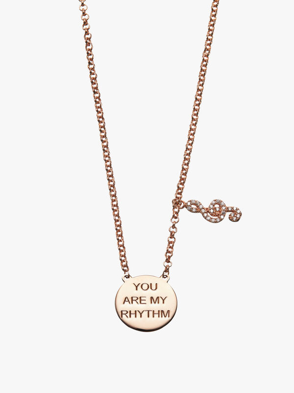 You Are My Rhythm Music Note Necklace