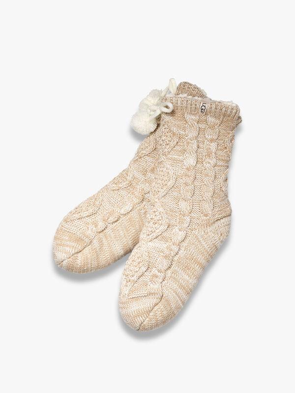 Pom Pom Fleece Lined Sock