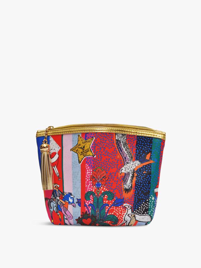 Kansas Wild Night Stripe Classic Make Up Bag