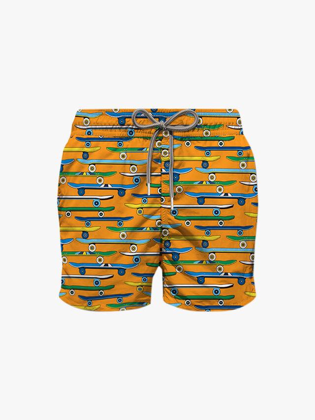 Skater Printed Swim Shorts