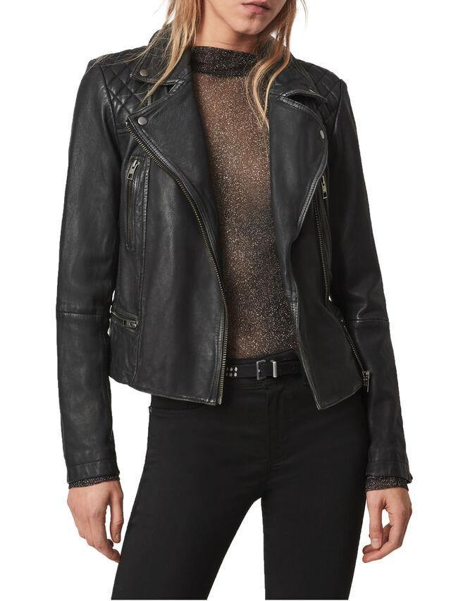 Cargo Leather Biker Jacket