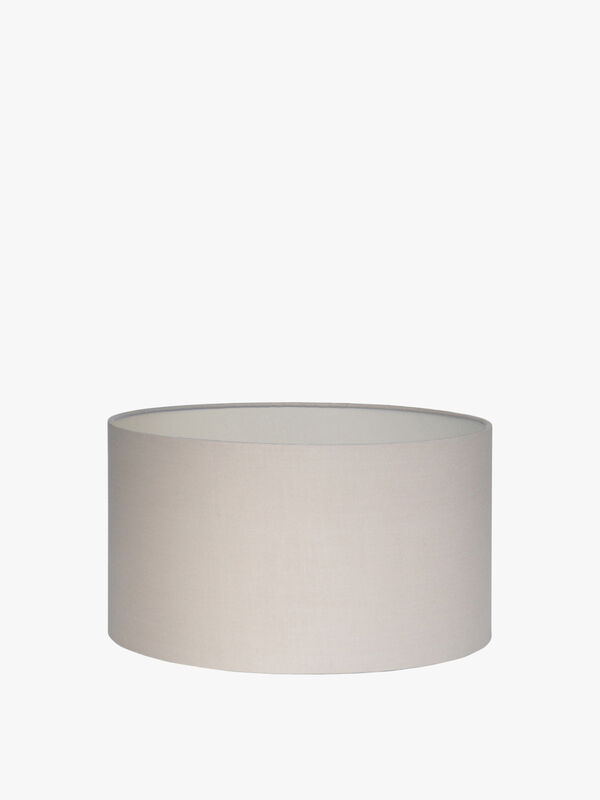 Taupe Cylinder Drum Shade