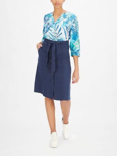 A-Linen-Button-Down-Linen-Skirt-w-Tie-Waist-410110-66633
