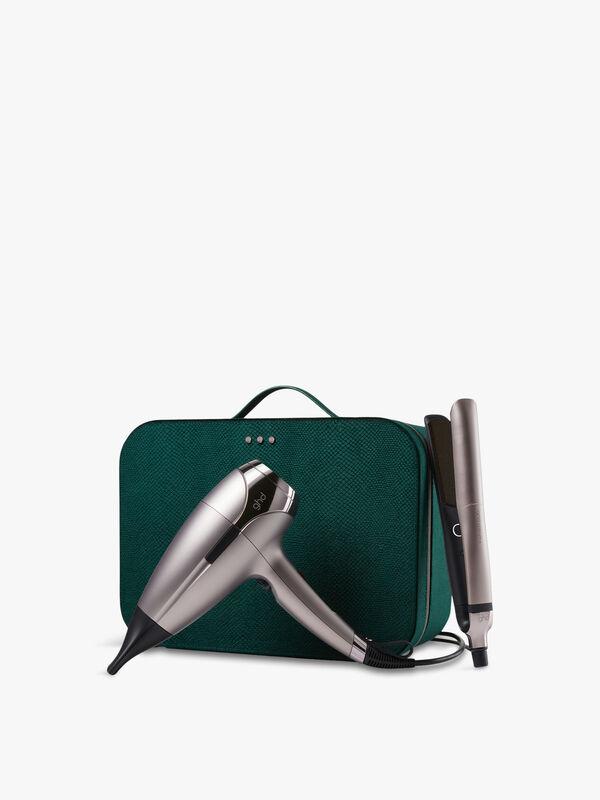Platinum+ & Helios Limited Edition - Hair Straightener & Hair Dryer in Warm Pewter