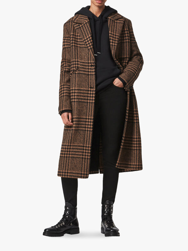 Jette Check Coat