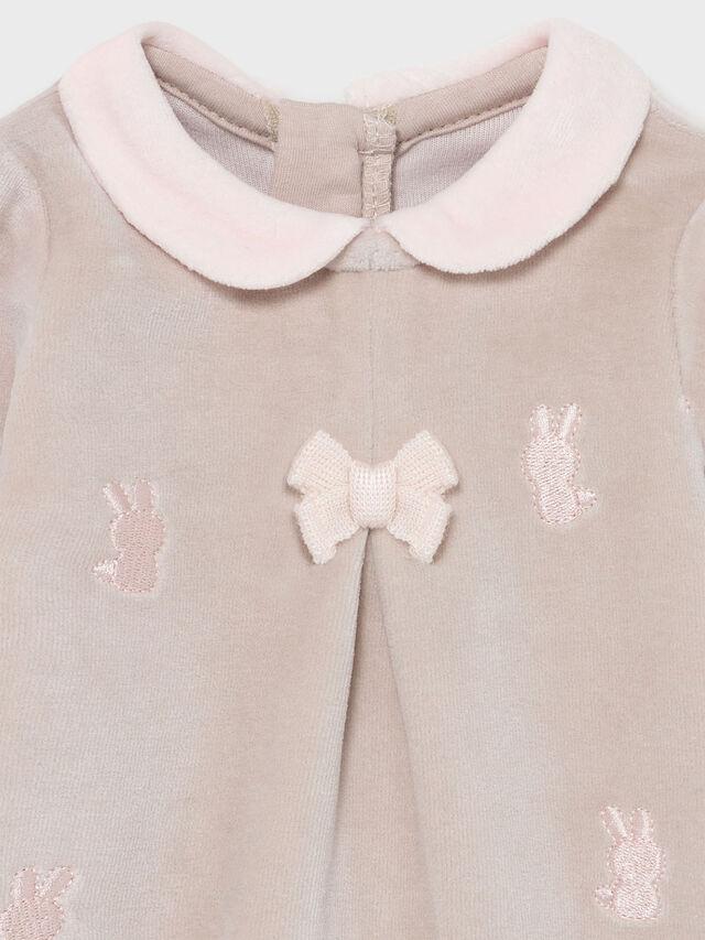 Velour Applique Rabbits Babygrow