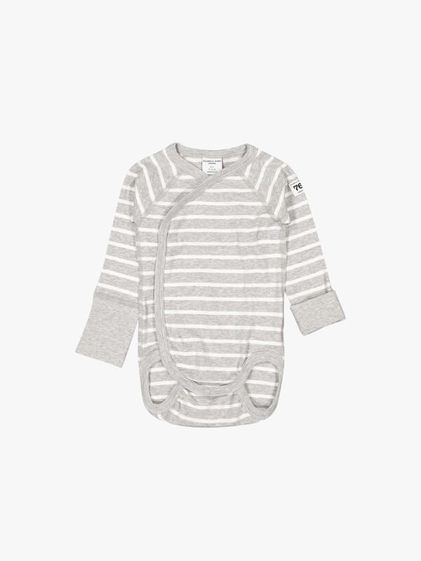 Striped GOTS Organic Wraparound Baby Bodysuit