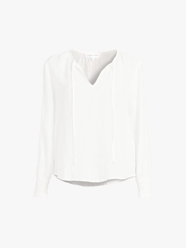 Tie Neck Pullover Blouse