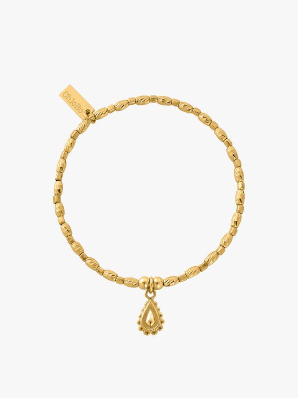 Gold Soul Glow Rain Drop Bracelet