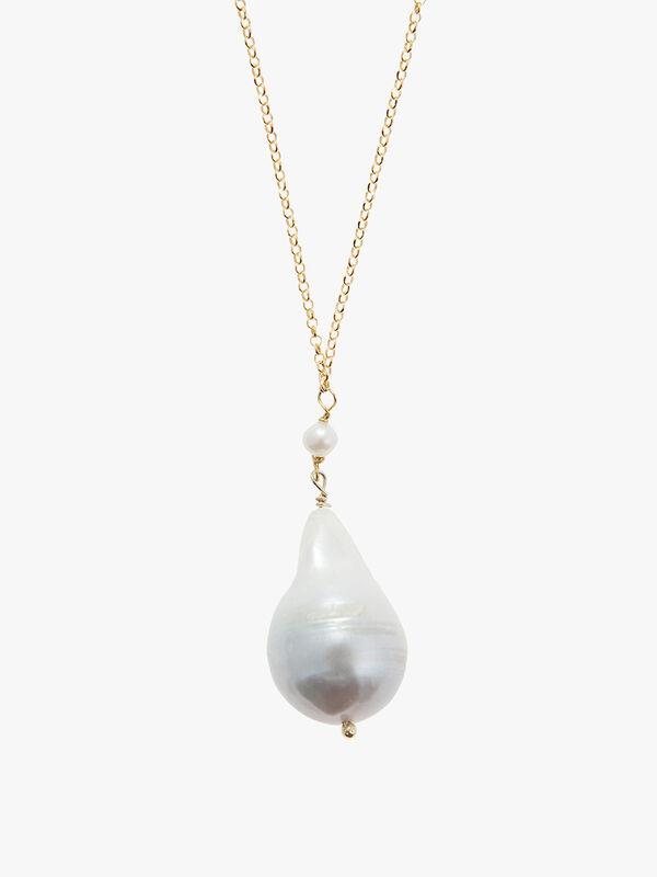 Sea Pearl Long Pendant Necklace