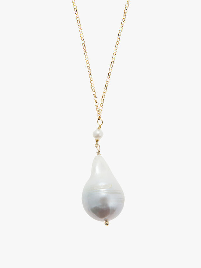 Sea Pearl Long Pendant Necklace