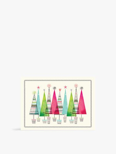 Deluxe Colourful Trees Boxed Cards