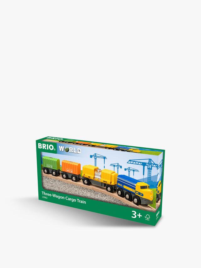 Three-Wagon Cargo Train
