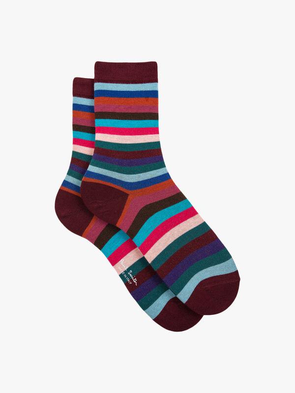 Organic Pony Stripe Sock