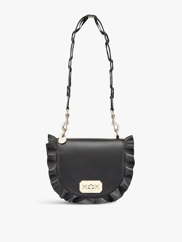 Frill  Half Moon Shoulder Bag