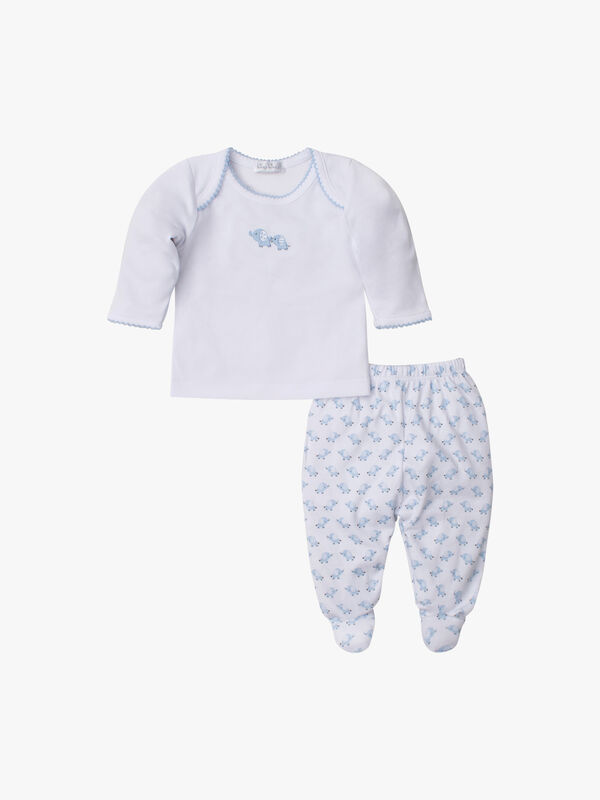 Baby Trunks Footed Pant Set