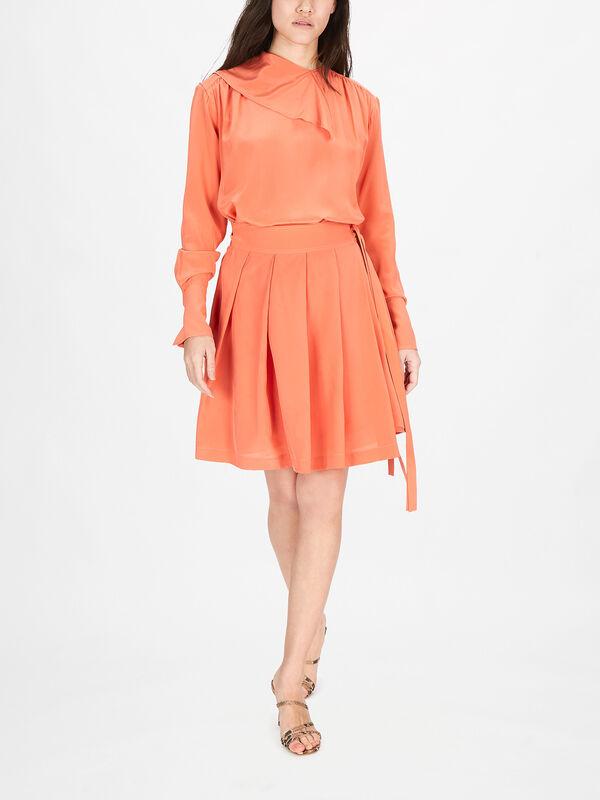 Pleated Silk Cdc Dress